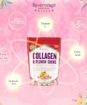 Kẹo Bổ Sung Collagen - Collagen Replenish Chews (bịch kẹo)