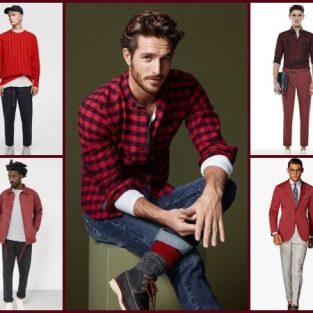12 bản phối trang phục màu đỏ cho chàng trai sành điệu