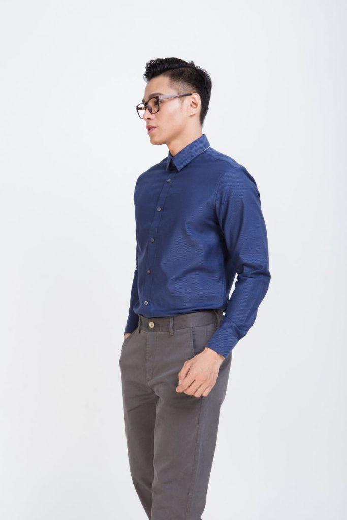 Cách chọn áo sơ mi công sở nam cao cấp theo dáng người