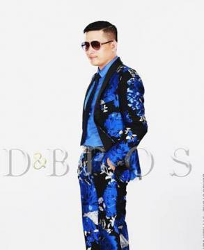 Áo vest hoa văn xanh đen