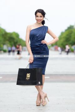 Đầm Chéo Vai Phi Lụa