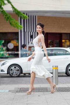 Đầm Đuôi Cá Phối Tay Voan