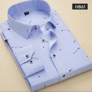 Áo sơ mi nam họa tiết hiện đại H861