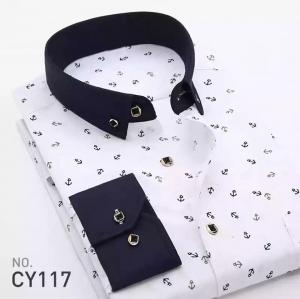 Áo sơ mi nam họa tiết hiện đại CY117